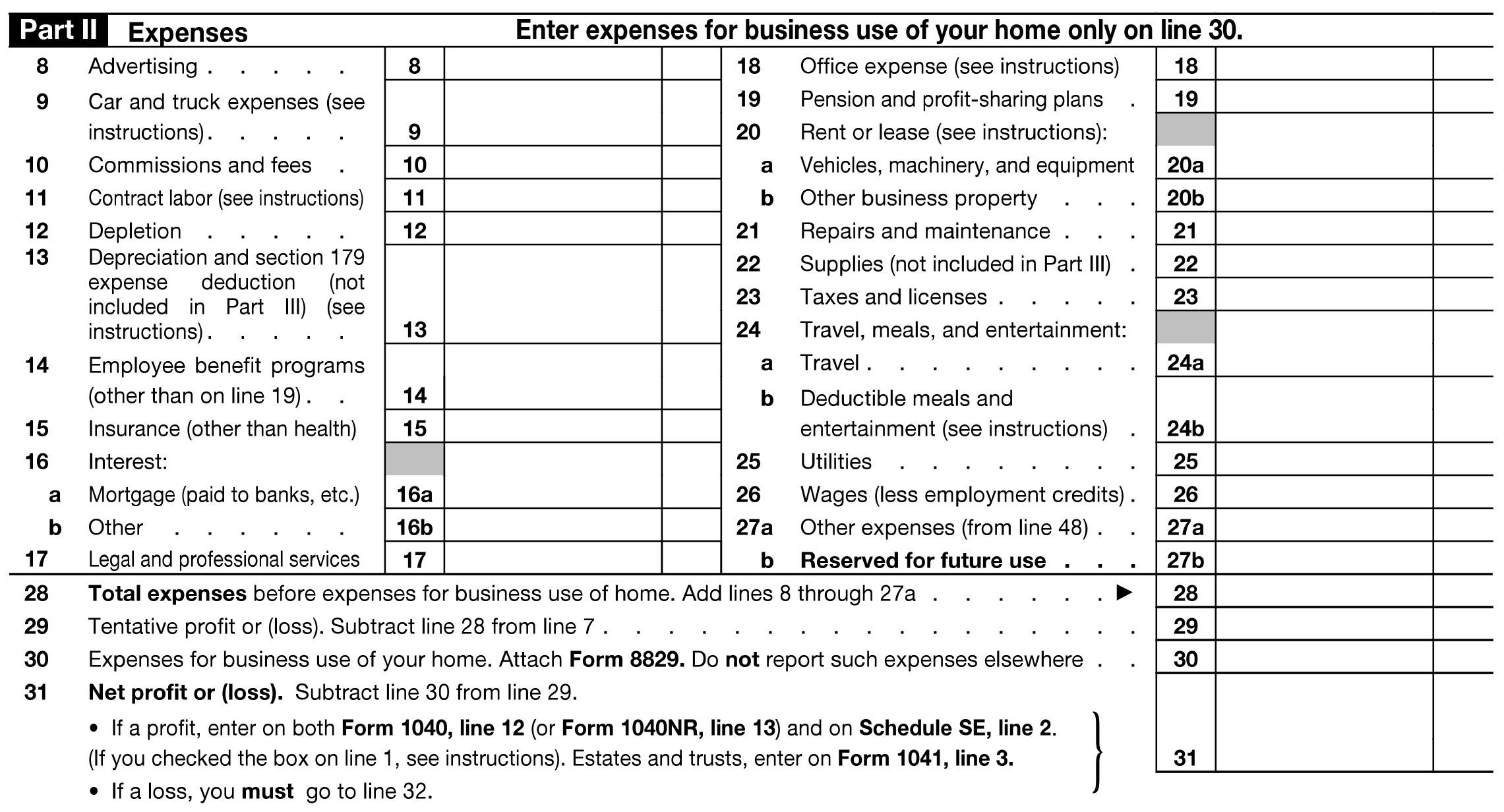 Sch C Pictures to Pin PinsDaddy – Schedule C Form