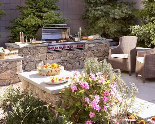 More Extravagant Grills Obviously Cost More, And You May Want To Have Stone  Wrapped Around The Base Of Your Grill Station And Then Have It Topped With  A ...